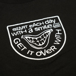 SMILE SHORTSLEEVE T-SHIRT - BLACK