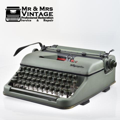 Extra Special & Rare Olympia Military SM Typewriter (Later Robust Typewriter) Pro World War 2 Two.