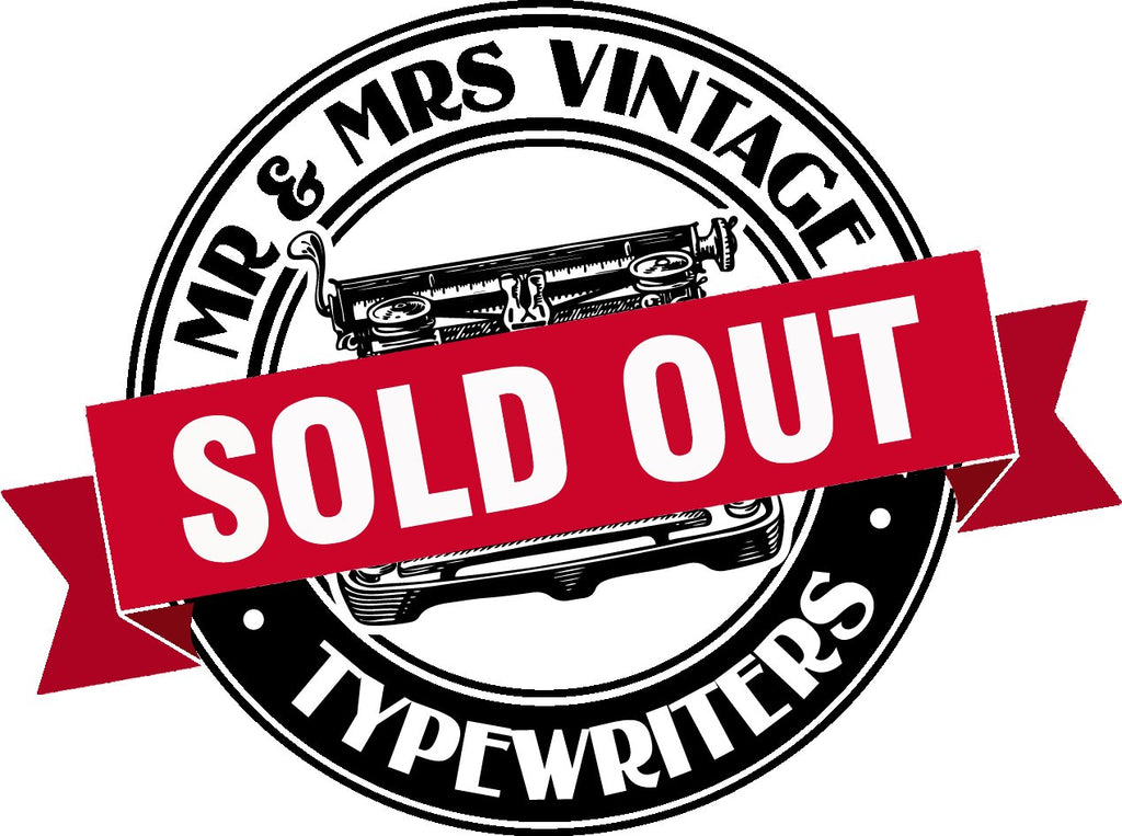 Sold out Typewriters at Mr & Mrs Vintage Typewriters