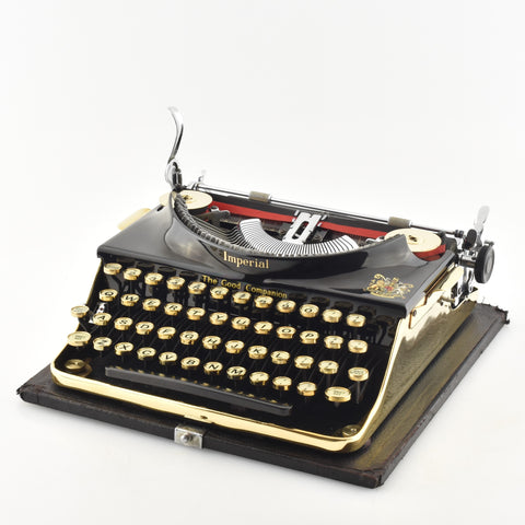 Gold plated imperial typewriter in Dubai of UAE.