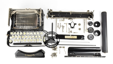 Corona folding typewriter restoration
