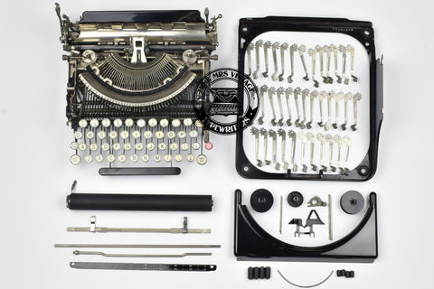 fully dismantled typewriter