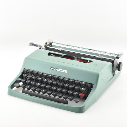 The Writers like to type on Olivetti Lettera 32 typewriters