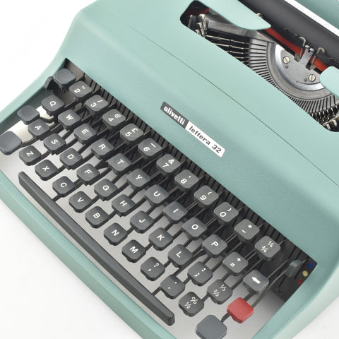 The portable Olivetti Lettera 32 Typewriter