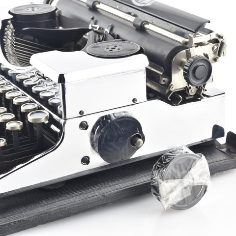 Chrome plated typewriter for rent