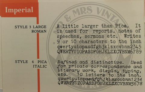 imperial typewriter rare fonts and typefaces