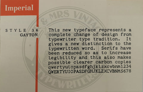 imperial typewriter fonts