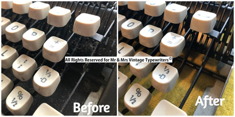 Cleaning of the Typewriter key