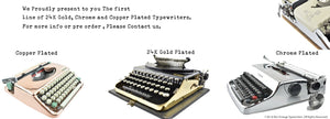 Mr and Mrs Vintage Typewriters Serviced and Working Typewriters Gold plated Chrome plated Copper