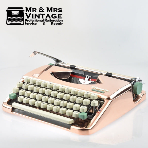 Rare Rose Gold Copper plated Typewriter by Olympia ) Splendid 66