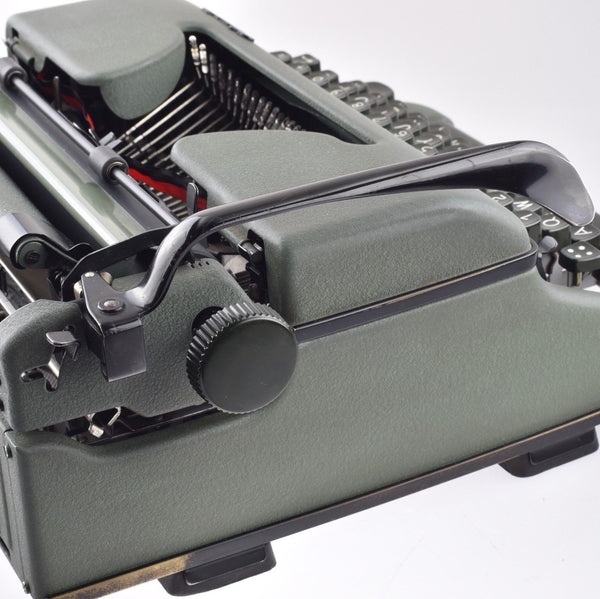 Military Olympia SM Typewriter with Original panzerkoffer Carrying Case