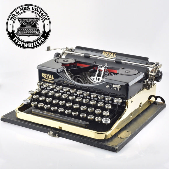 Royal P Typewriter Gold plated