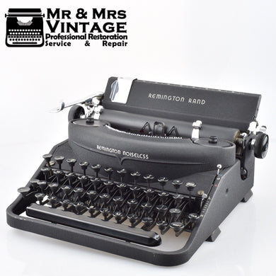 Remington Rand Noiseless Typewriter in Matte Grey Model 7