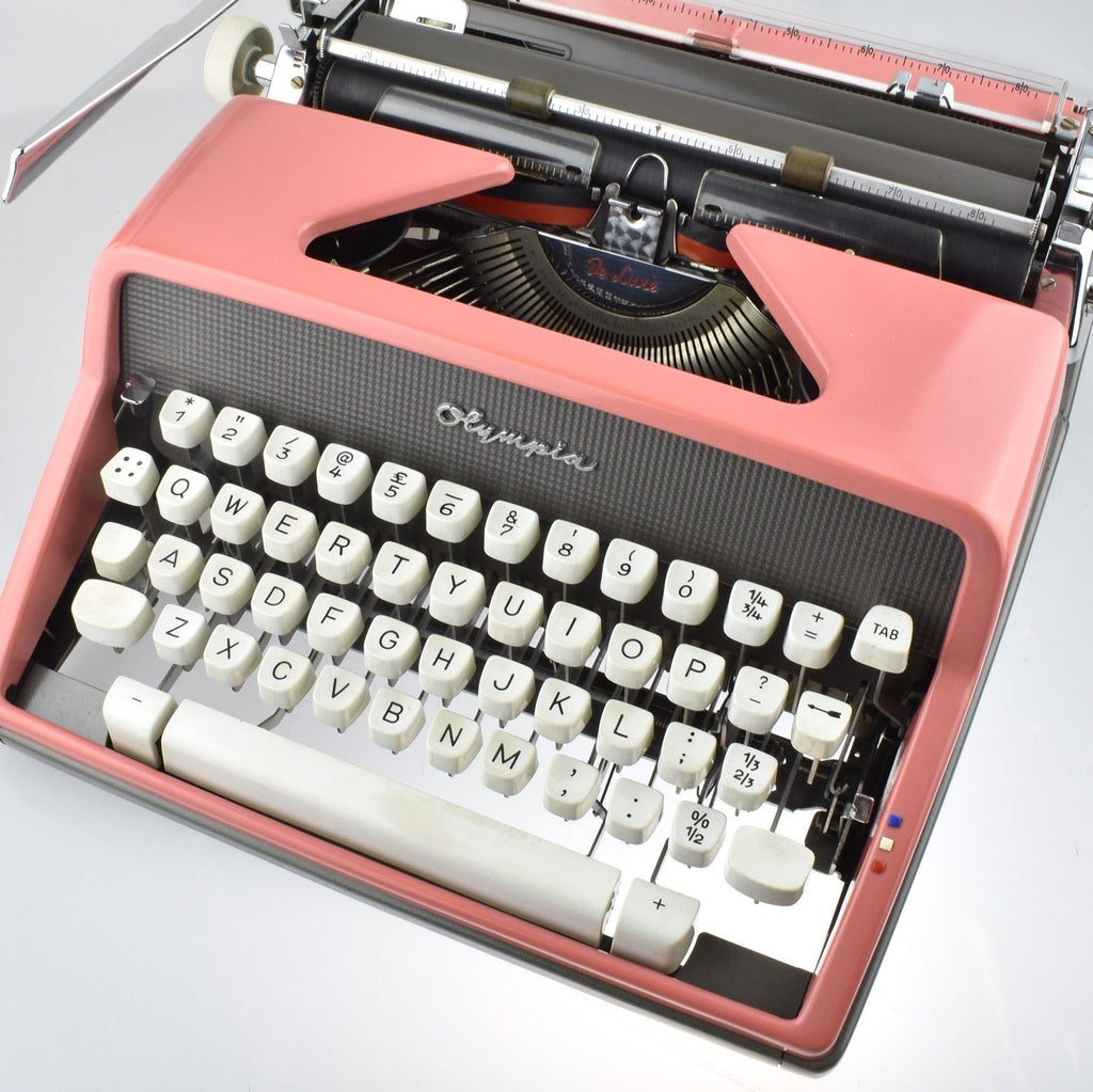 Restored Serviced Working Olympia SM7 Pink Typewriter