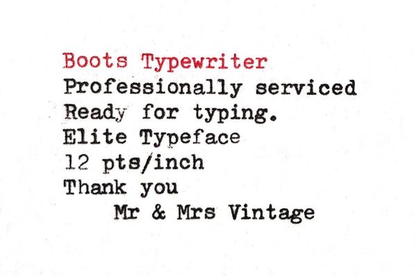 Boots PT800 Typewriter in Special Colour.