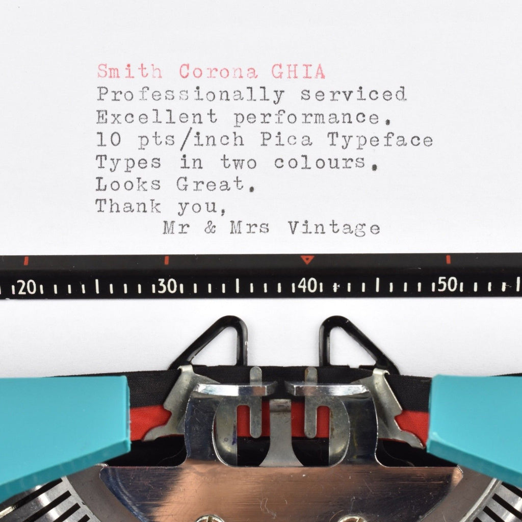 Smith Corona GHIA Typewriter Typeface