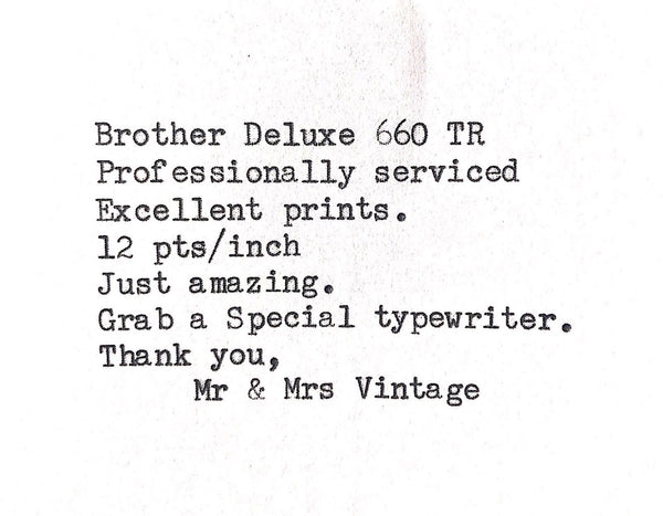 Brother Deluxe 660TR Correction Typewriter - rare to find in such condition