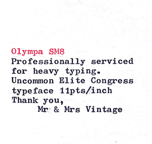 Olympia SM8 Typeface