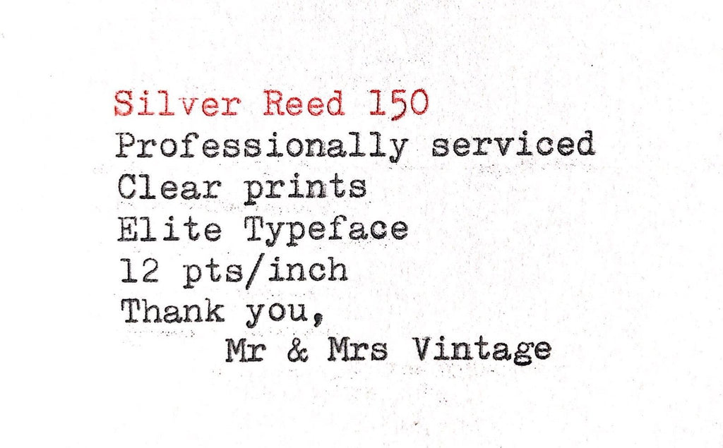 Serviced Working Silver Reed 150 Typewriter