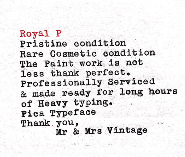 Royal P Typeface