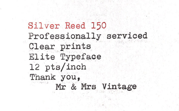 Silver Reed 150 Typewriter in Orange Colour