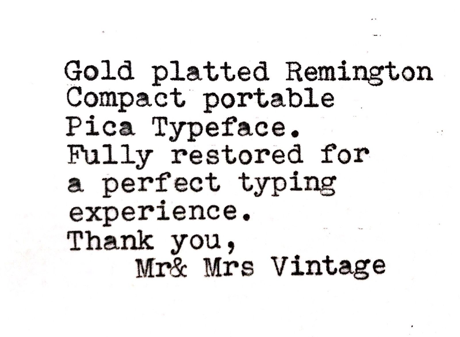 24K Gold plated Remington Compact Portable Typewriter