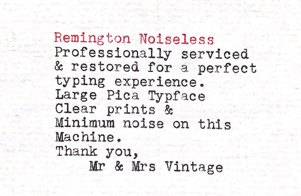 Remington Noiseless Typeface