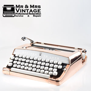 Professionally Serviced Working Copper Plated Brother Deluxe Typewriter