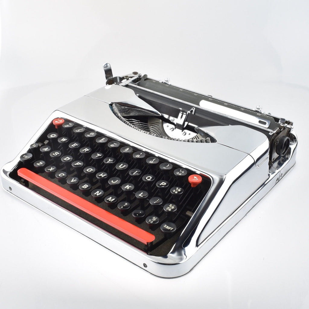 Professionally Serviced Working Empire Baby Chrome Typewriter