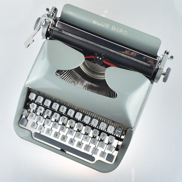 Blue Bird Portable Typewriter in Special Greenish Colour.