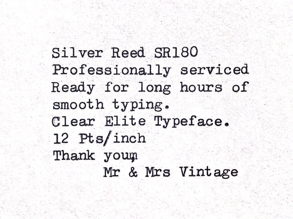 Wh smith Typewriter typeface