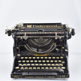 "Underwood Number 5 Typewriter "" Excellent Working Order"""