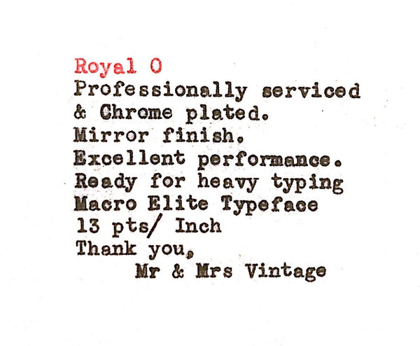 Royal O Typewriter Typeface