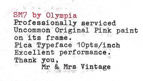 Olympia SM7 Pink Typeface