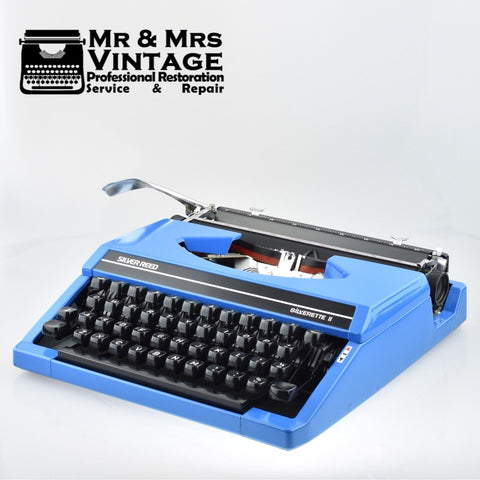 Silver Reed Silverette II  Typewriter in Blue & PICA Typeface