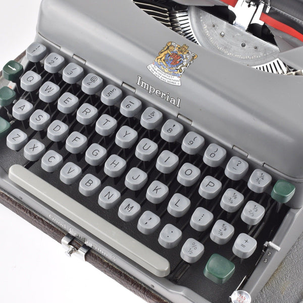 Imperial Good Companion Model 3 Typewriter with Elegant Case.
