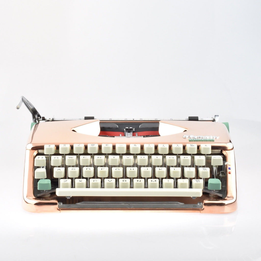 Restored Serviced Working Copper plated Olympia Splendid 66 typewriter