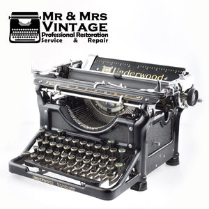 Underwood Number 6 Desk Typewriter Working Restored Serviced Old Superb Mint