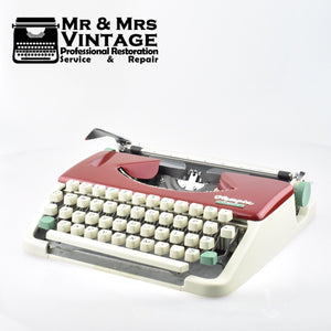 Professionally Serviced Working Splendid 33 Typewriter Burgundy