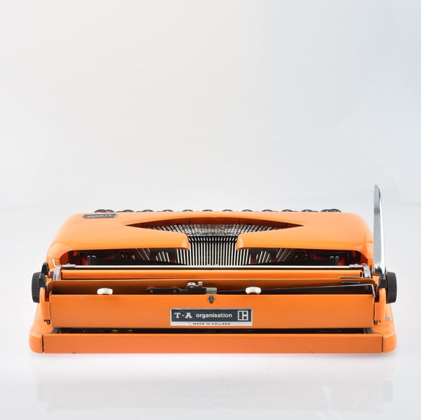 Adler Tippa Orange Typewriter with Rare Modern Congress Typeface
