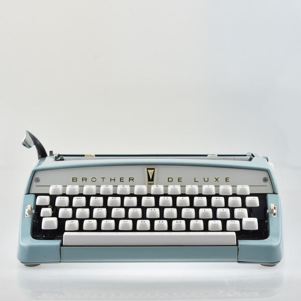 Excellent Brother Deluxe Typewriter in Light Duck Blue