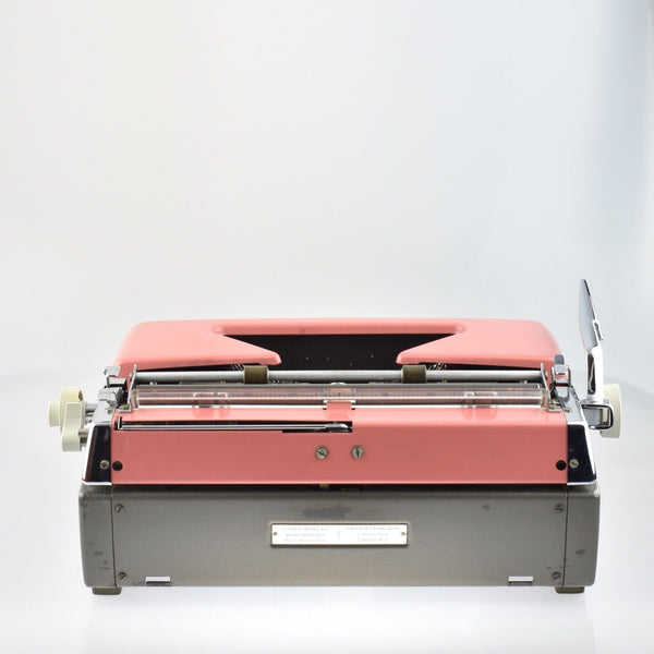 Olympia SM7 Pink Typewriter - White Keys & Excellent Condition.