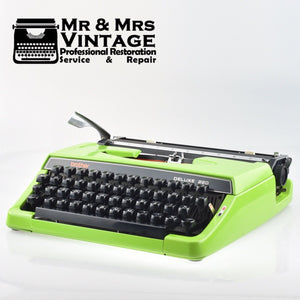 Rare (Original Paint ) Green Brother Deluxe 220 Typewriter in Excellent Working Order