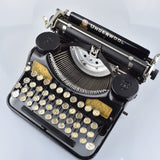 "1930 Underwood 4 Bank Portable Typewriter with Special #Golden Crackled Sides and Front ""Rare to Find"""