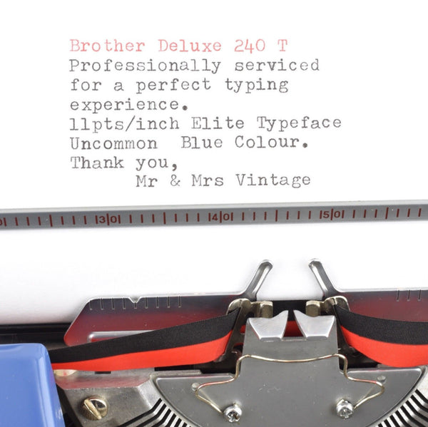 Brother Deluxe Typewriter typeface