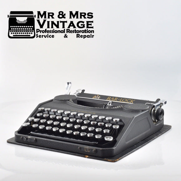 Professionally Serviced Working Bar-Lock Portable Typewriter