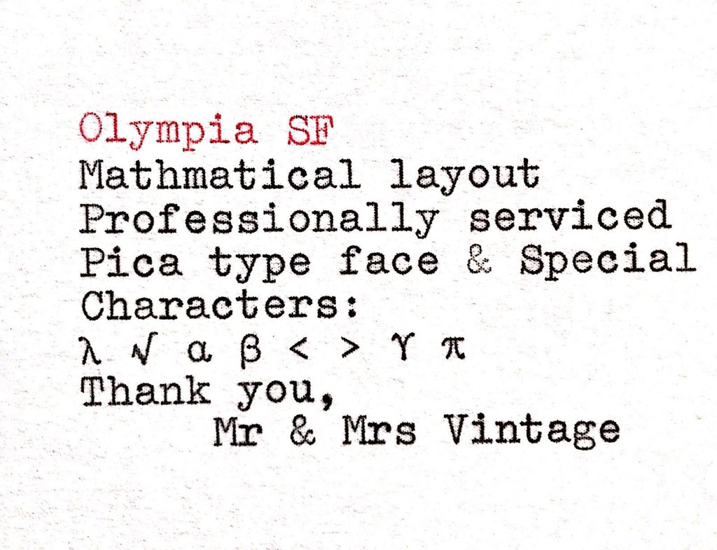 Olympia SF Typeface Mathmetical