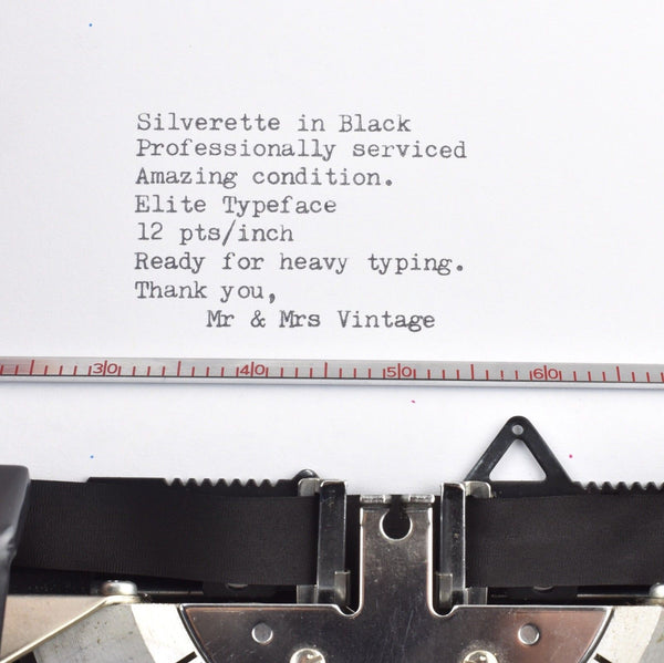 Silver Reed TYPEFACE