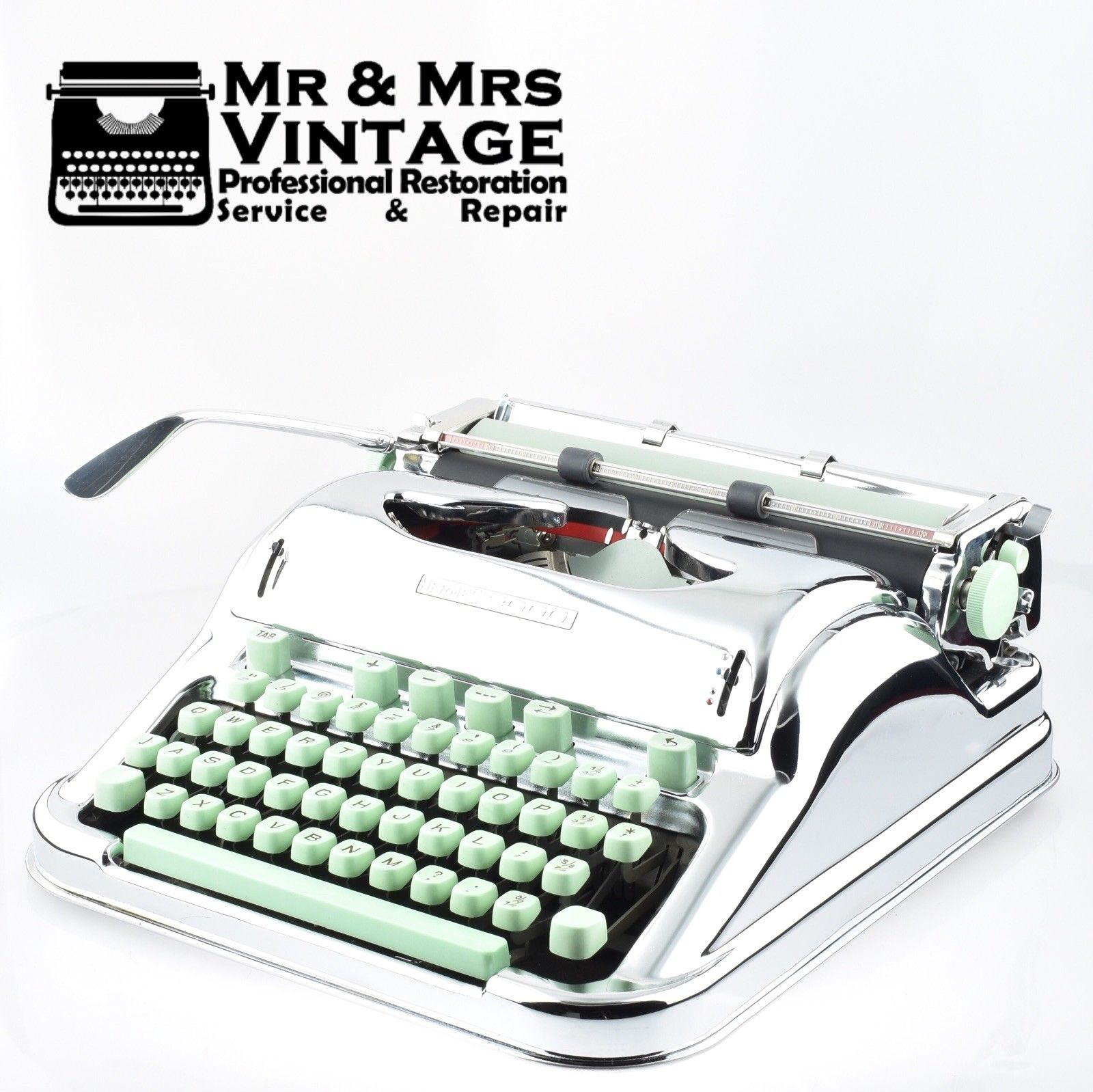 Chrome Plated Serviced Restored Working Hermes 3000 Typewriter