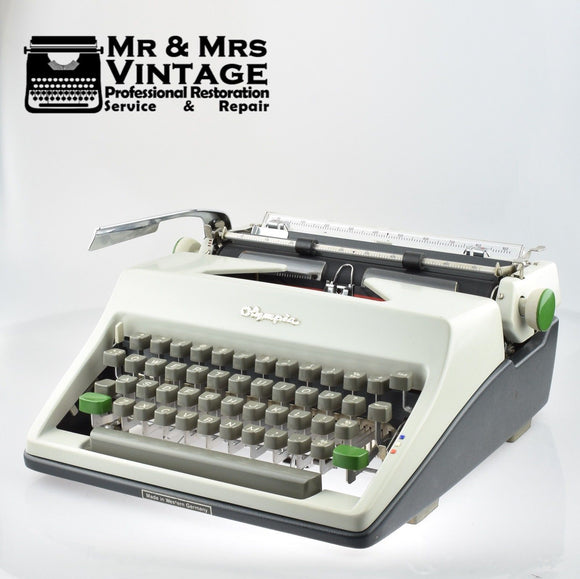 Professionally Serviced Working Olympia SM8 Typewriter